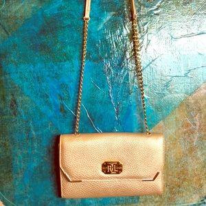 Cross Body Ralph Lauren Gold purse